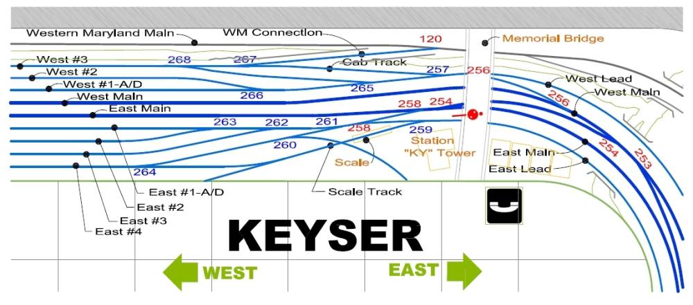 Keyser Station Map