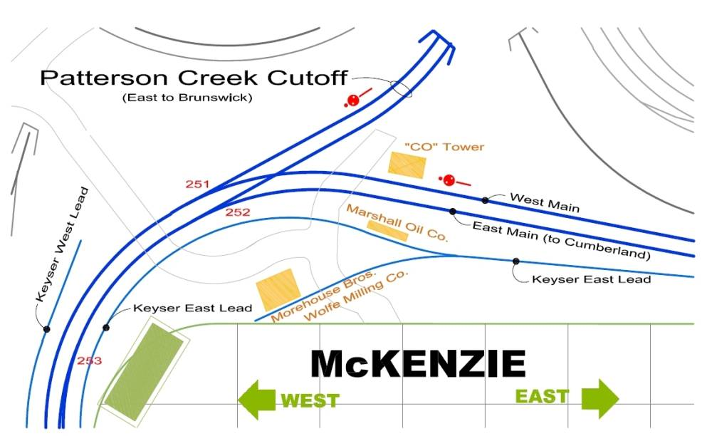 McKenzie Station Map