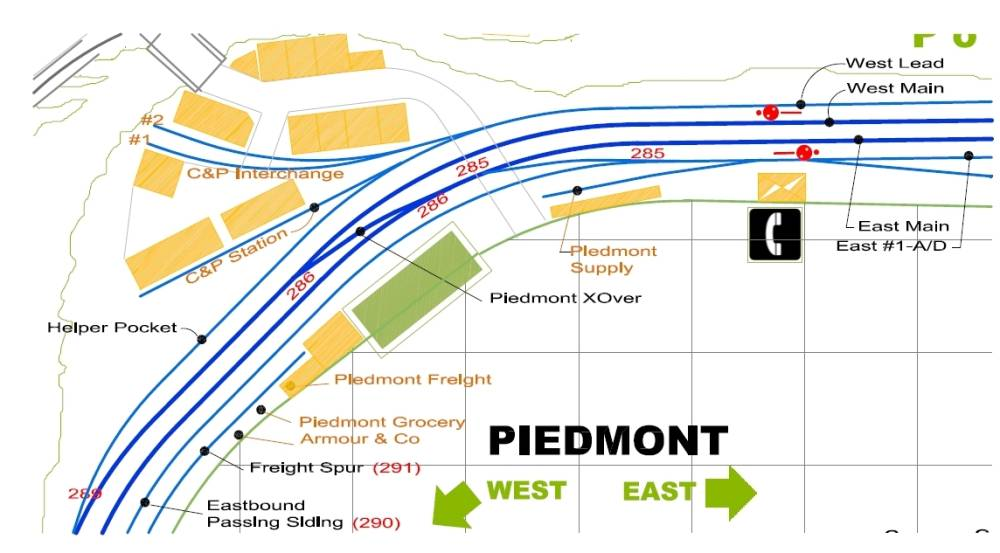 Piedmont Station Map