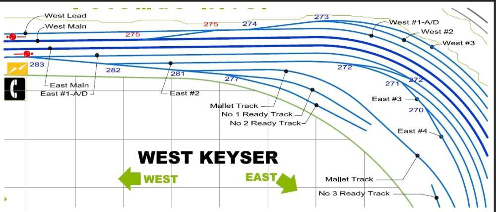 West Keyser Station Map